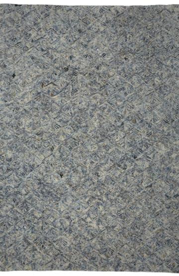 Blue Modern wool rug