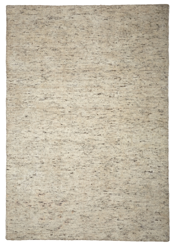 Caramel (Light Brown) Modern wool rug