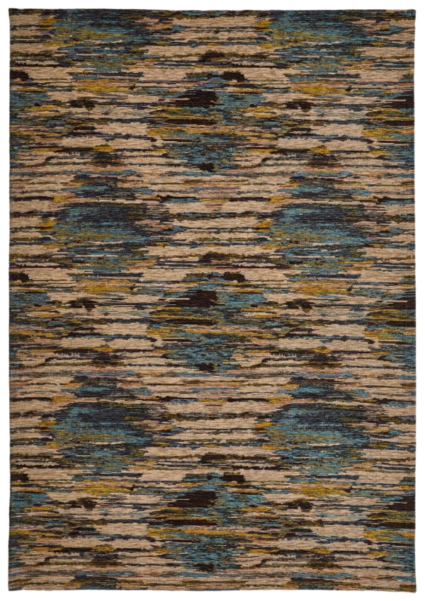 Blue-Green modern synthetic rug