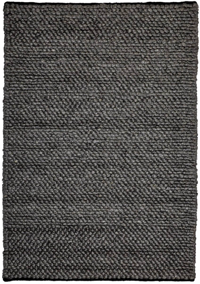 Ash (dark grey) modern wool rug