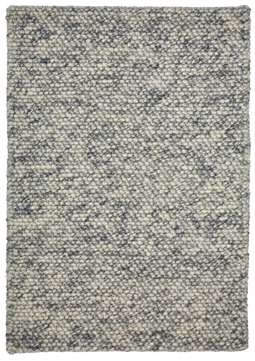 Cloud (white and grey) modern wool rug