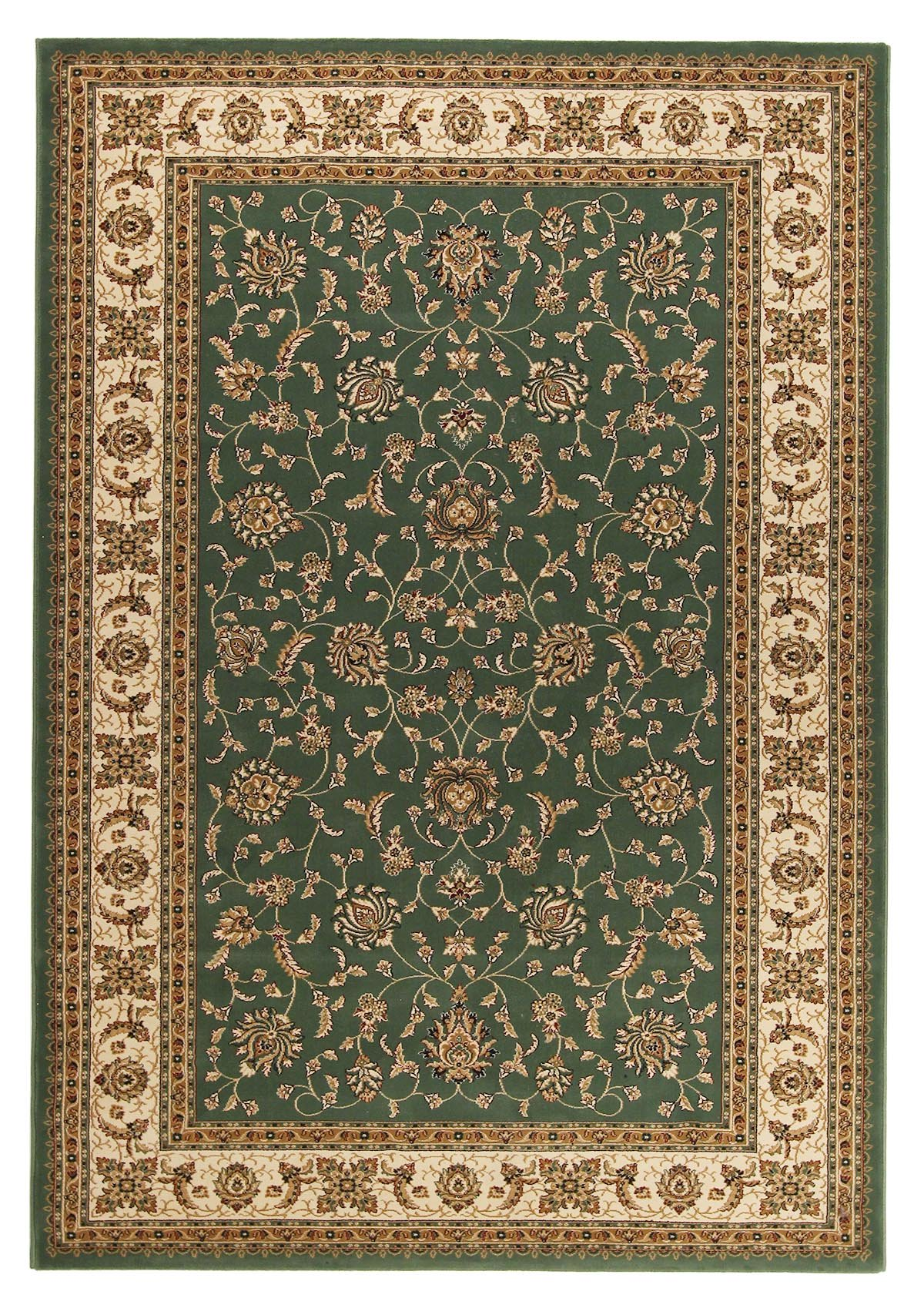 Green traditional Persian style rug