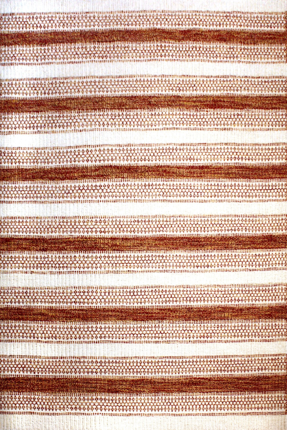 Modern wool Ivory and Red stripes Cheyenne Red