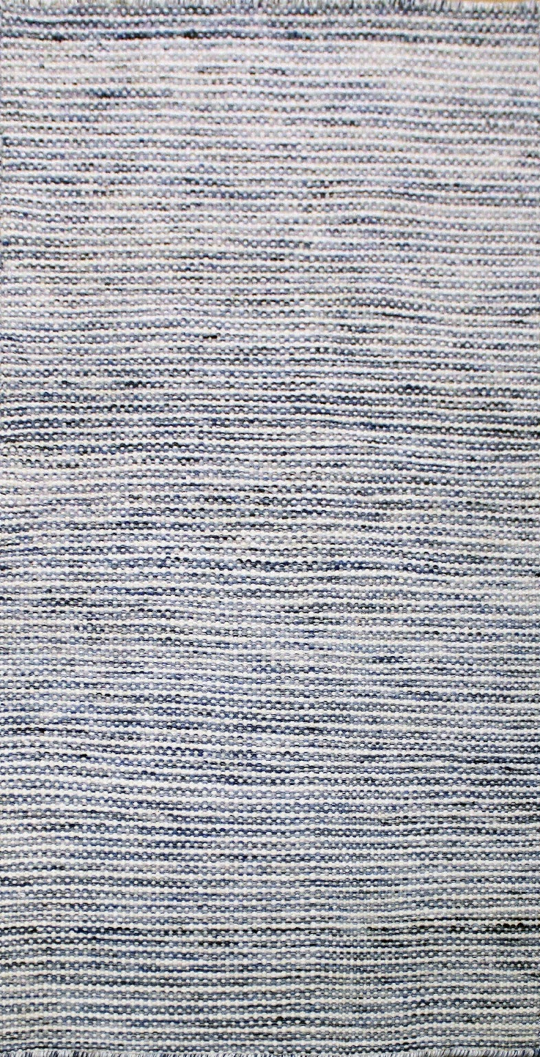 Chicago Blue Modern Wool Runner