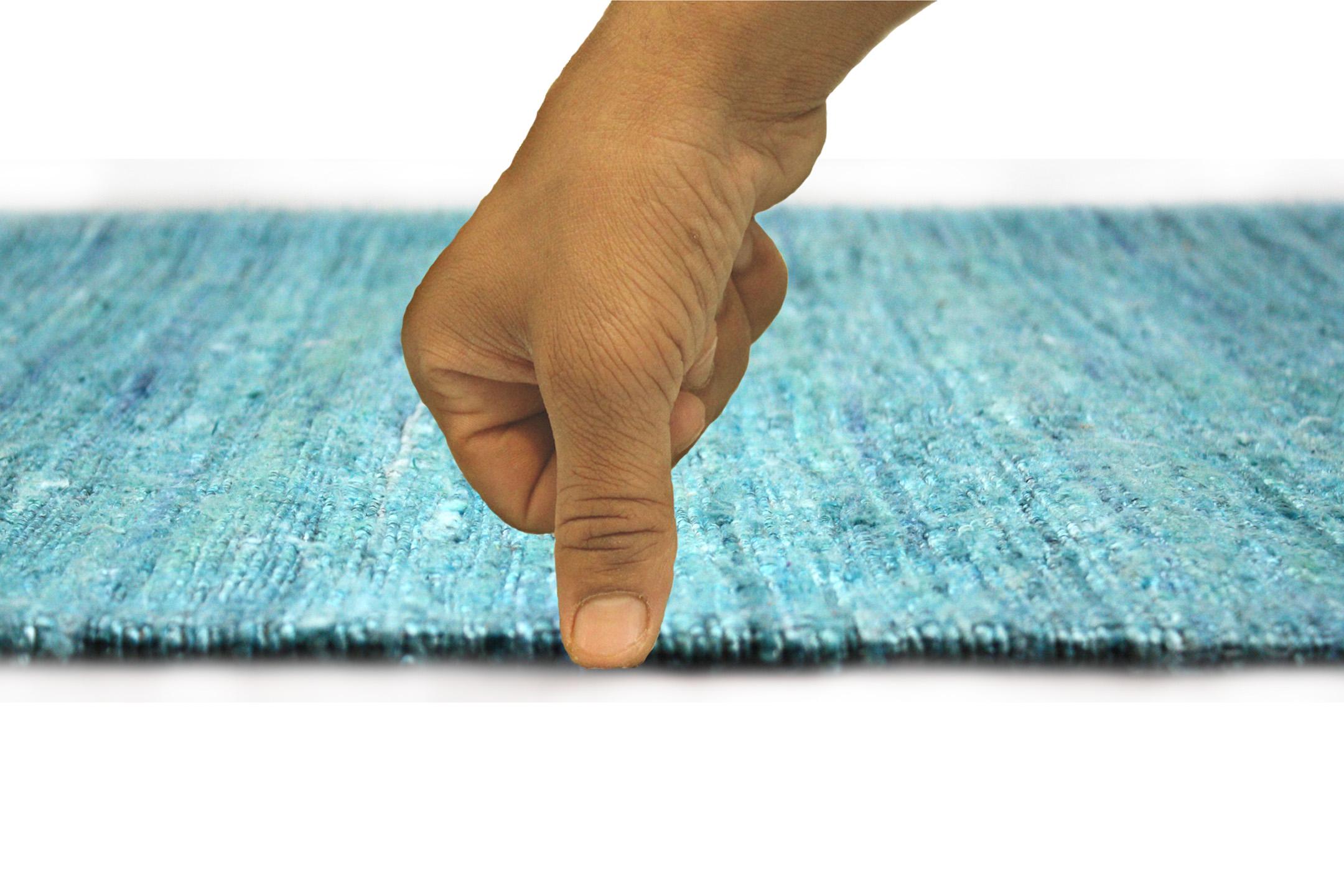 Chocho Turquoise Flatweave Rug
