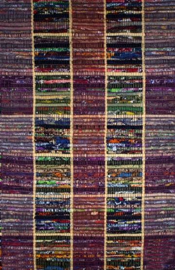 Purple Flatweave Rug. Como 9212