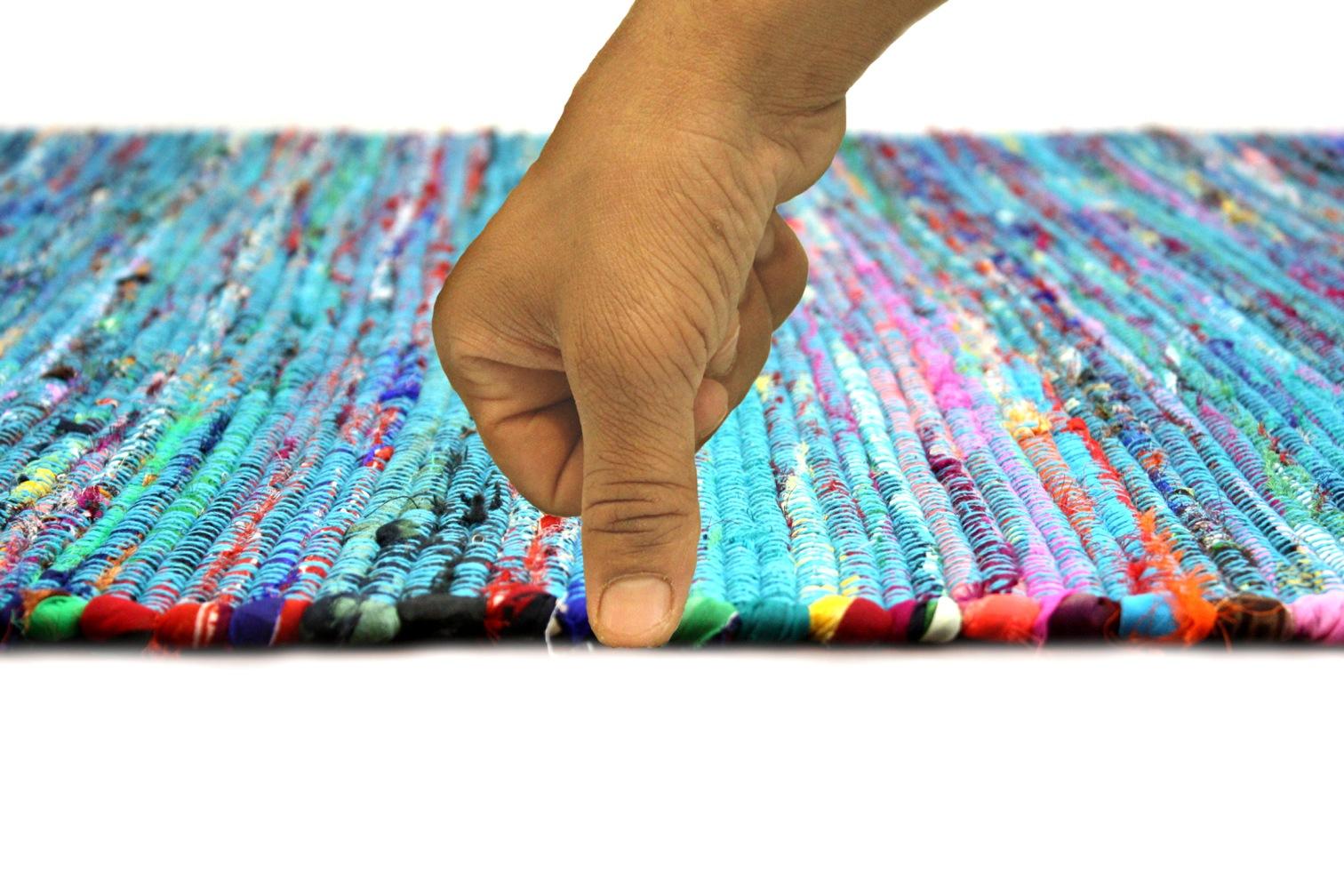 Como Turquoise Flatweave Rug