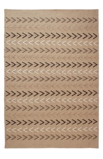 Cora 10612 Natural Flatweave Wool Rug