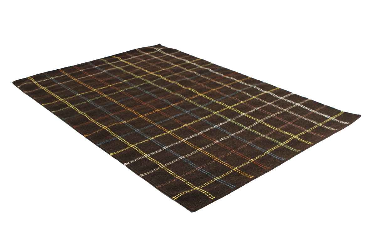 Cora 11368 Brown Flatweave Wool Rug