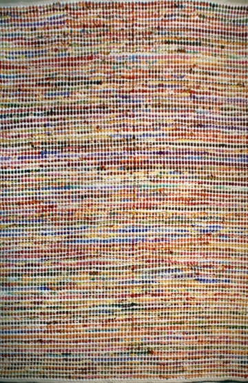 Kanda Multi stripes modern rug