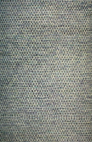 Blue and Grey Wool Modern Rug Lounge