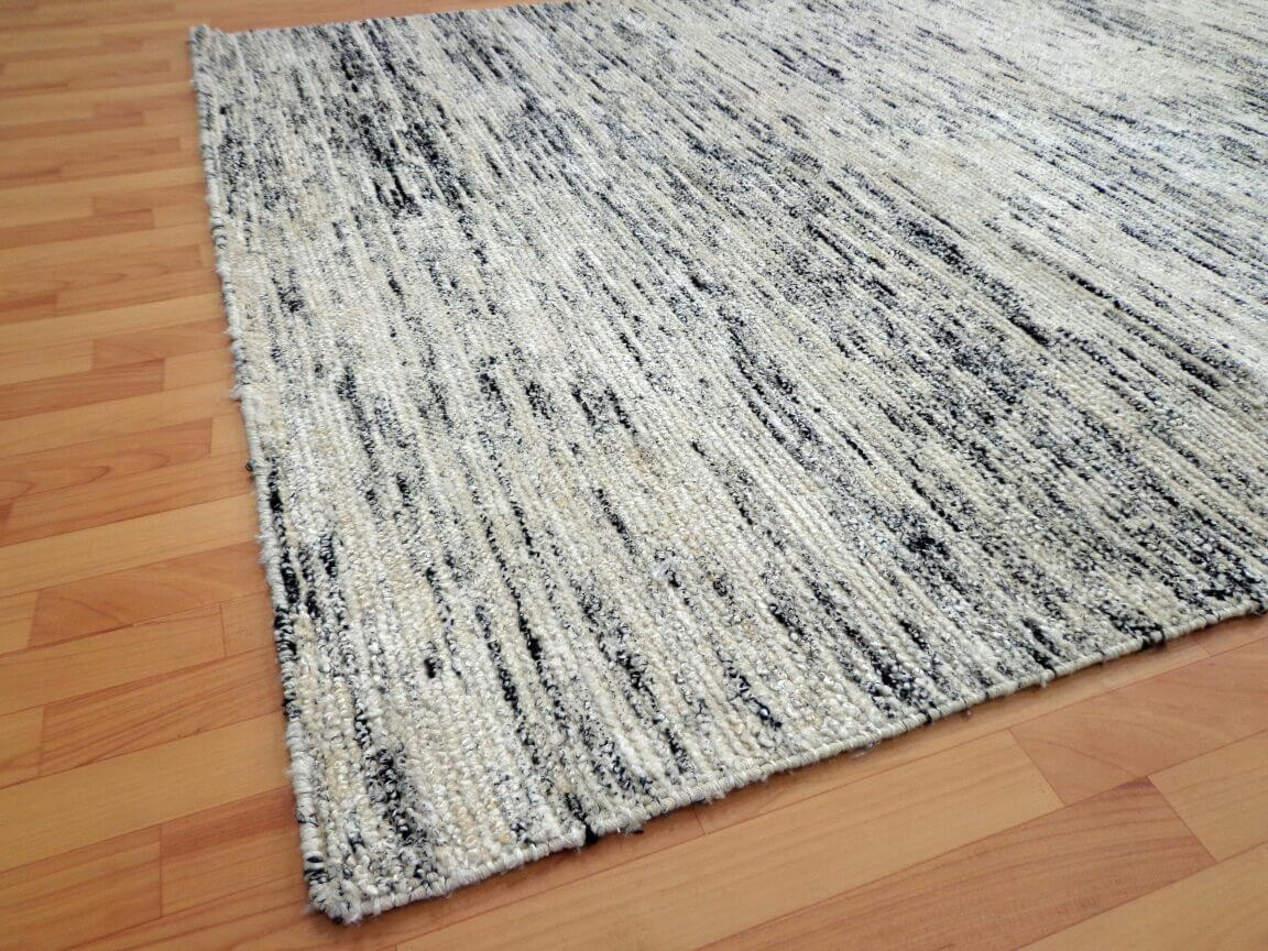 Madison Black Modern Silk Rug