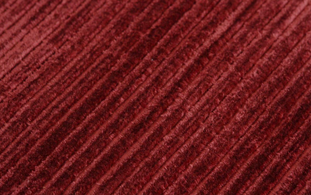 Ribbed Burgundy Modern Rug