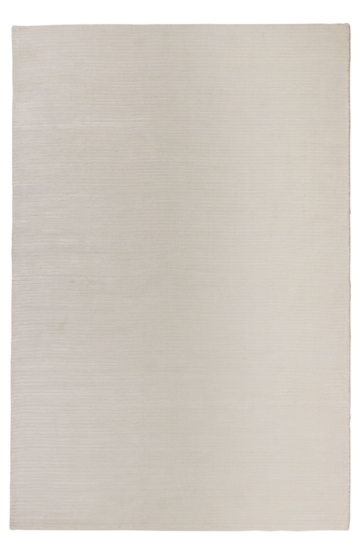 Ribbed Cream Modern Rug