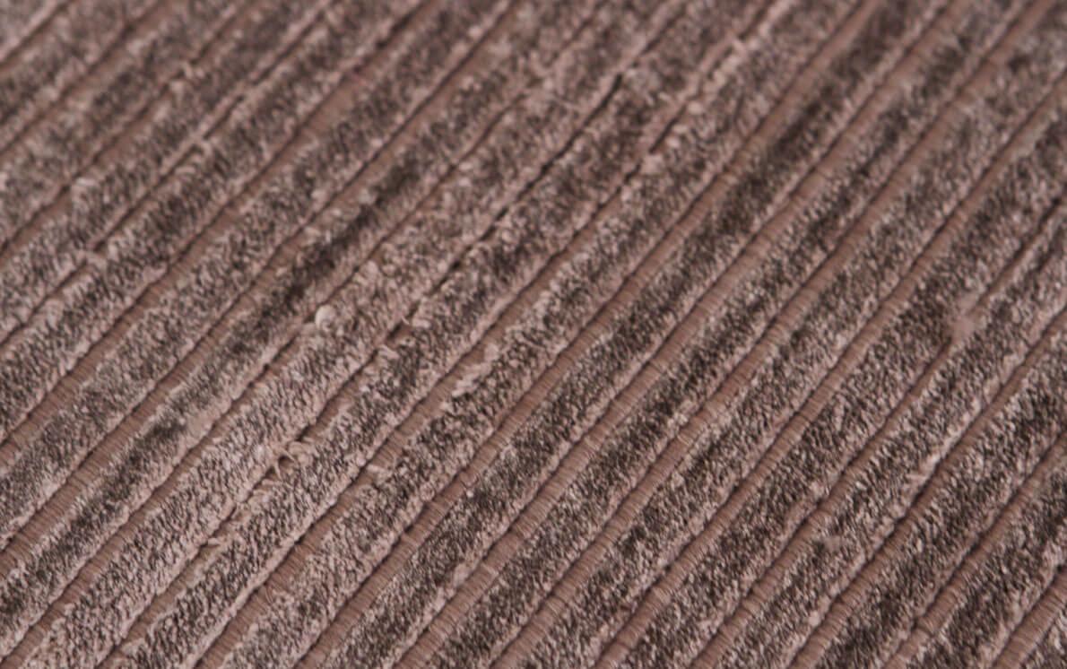 Ribbed Brown Modern Rug