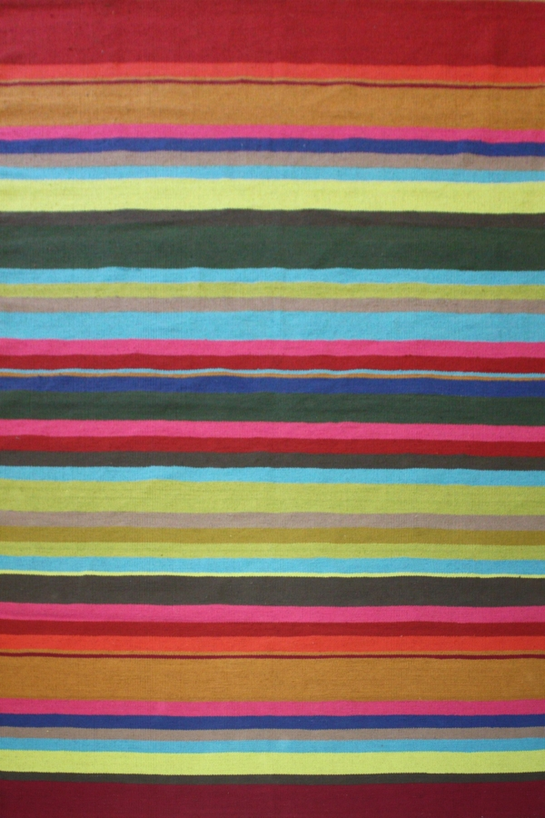 Stripes Multi 1 Modern Cotton Rug