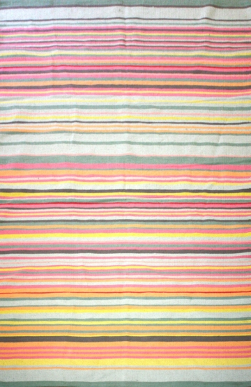 Stripes Multi 2 Modern Cotton Rug