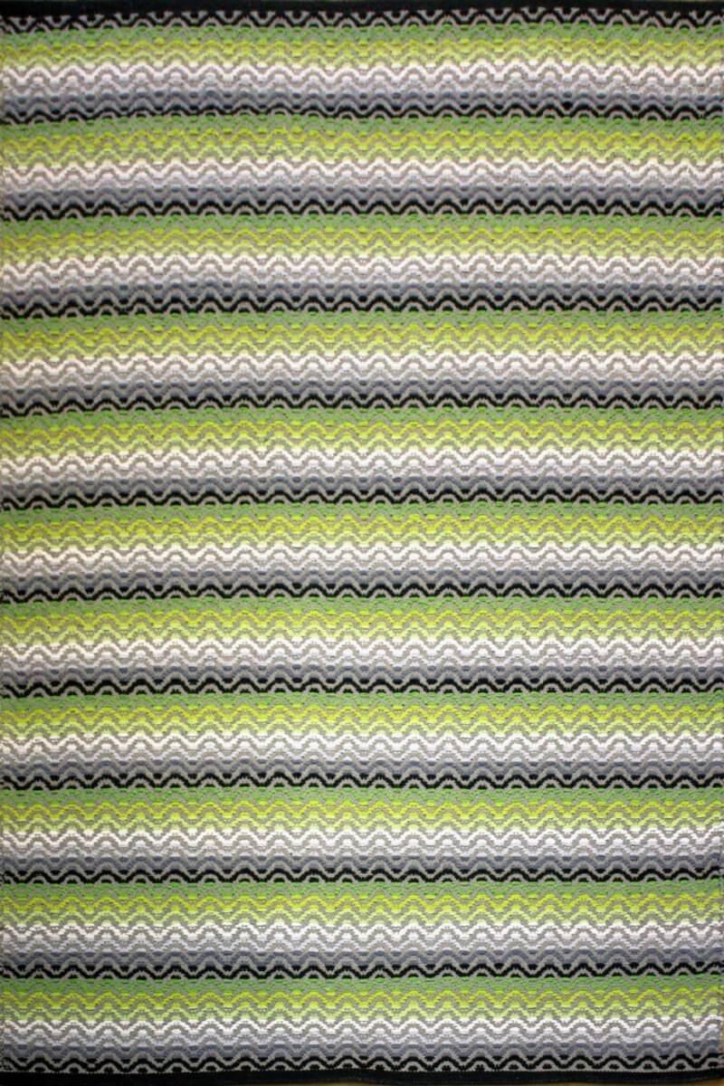 Tiskoni Green Modern Cotton Rug