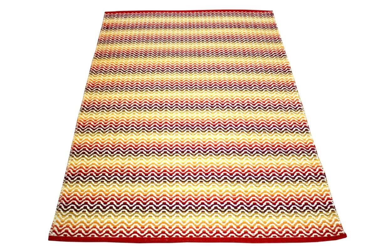 Tiskoni Red Modern Cotton Rug