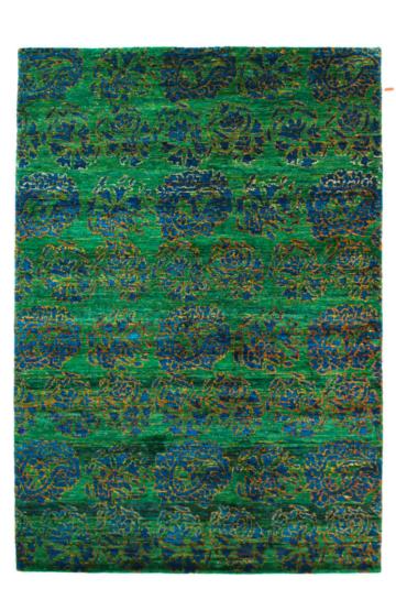 Versa 1493 Green Modern Silk Rug