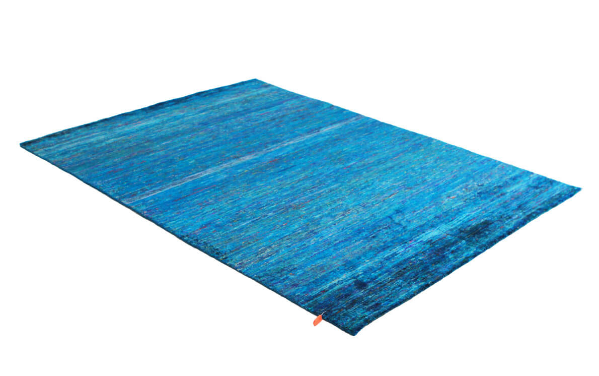 Versa 2635 Turquoise Modern Silk Rug
