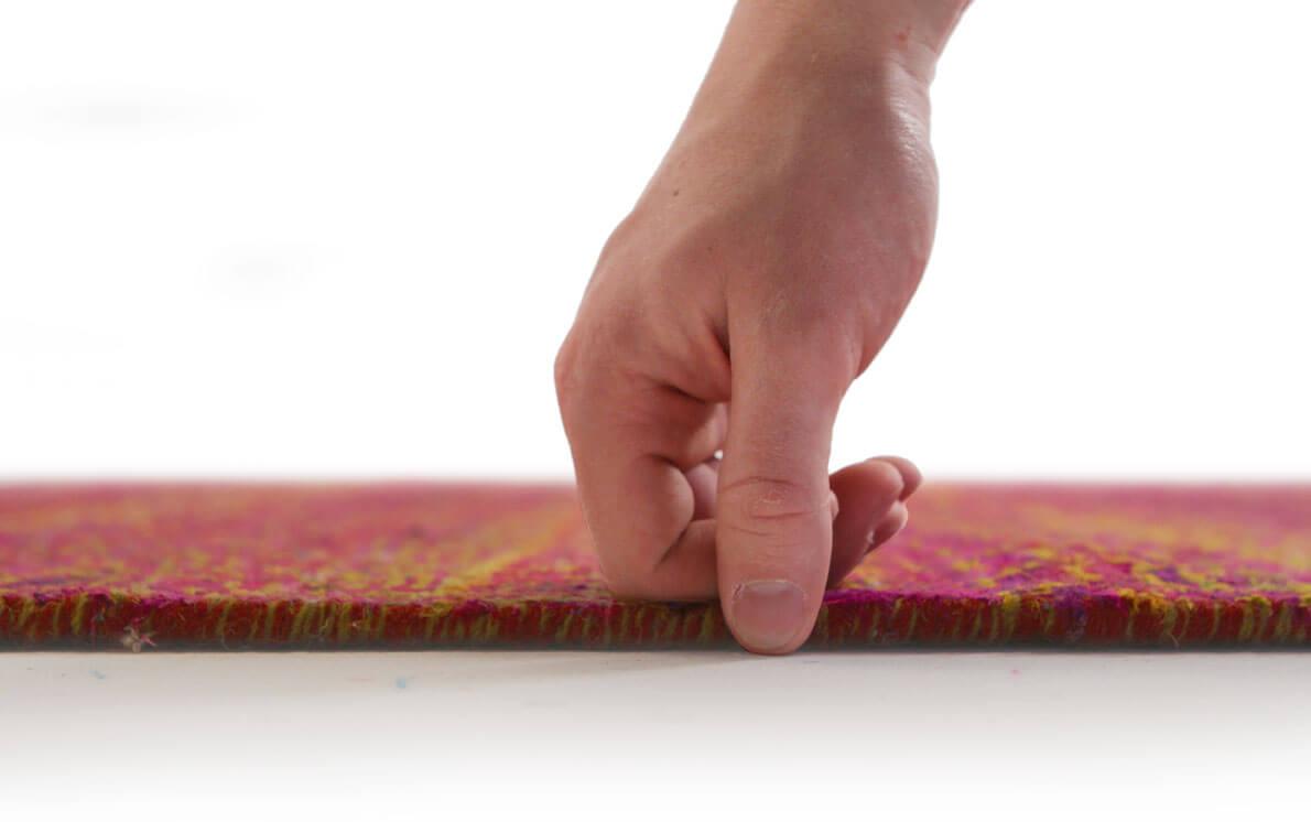 Versa 2669 Rust Modern Silk Rug