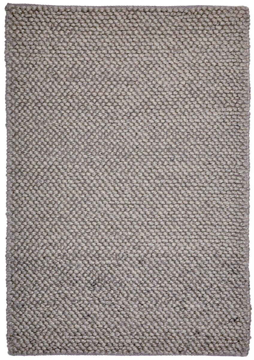 Metal (light grey) modern wool rug