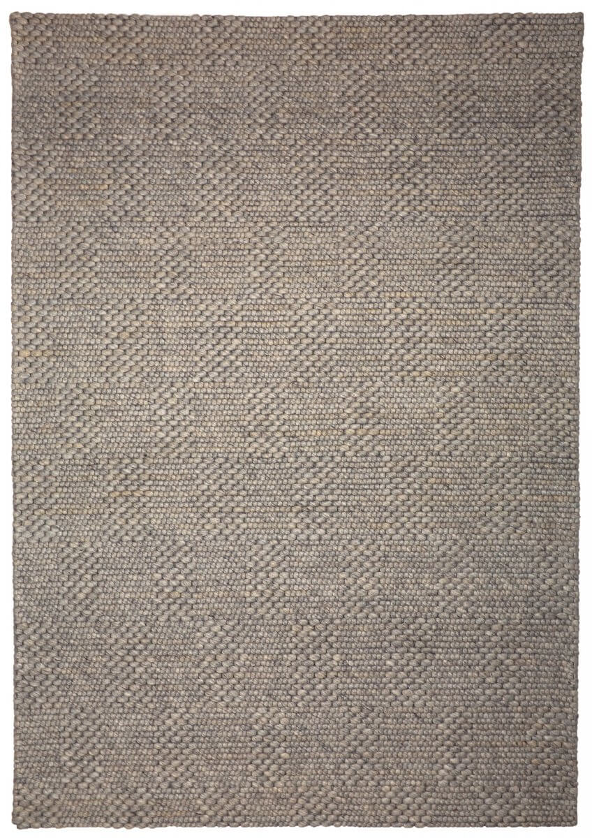 Taupe (Greyish Brown) Modern wool rug