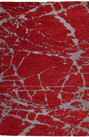 Red modern synthetic rug