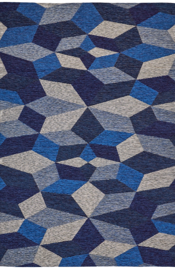 Blue modern synthetic rug