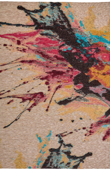 Multi colour modern synthetic rug