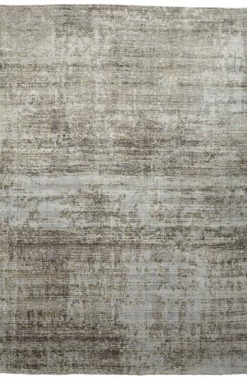 Silver modern viscose rug
