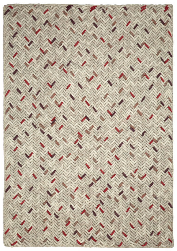 Multi modern wool rug