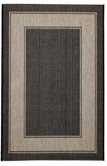Black outdoor rug