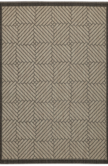 Grey outdoor rug