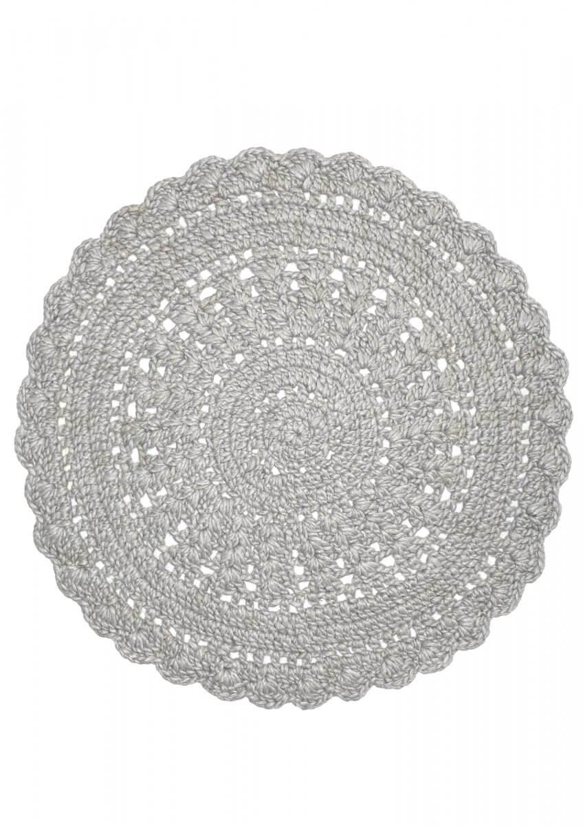 Silver modern wool rug