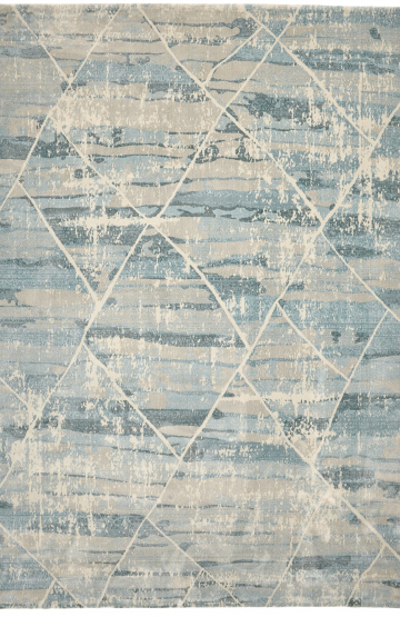 Light Blue modern rug