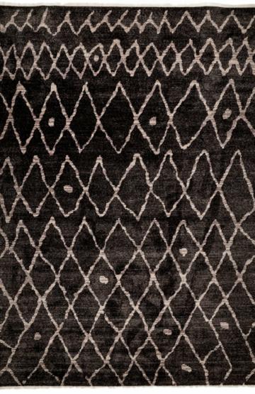 Black modern rug