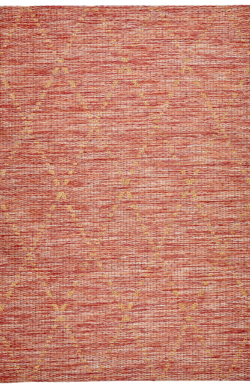Red outdoor rug