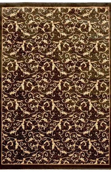 Black traditional rug
