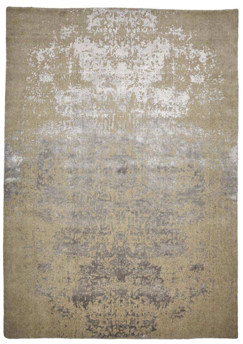 Silver Beige Modern Wool Rug