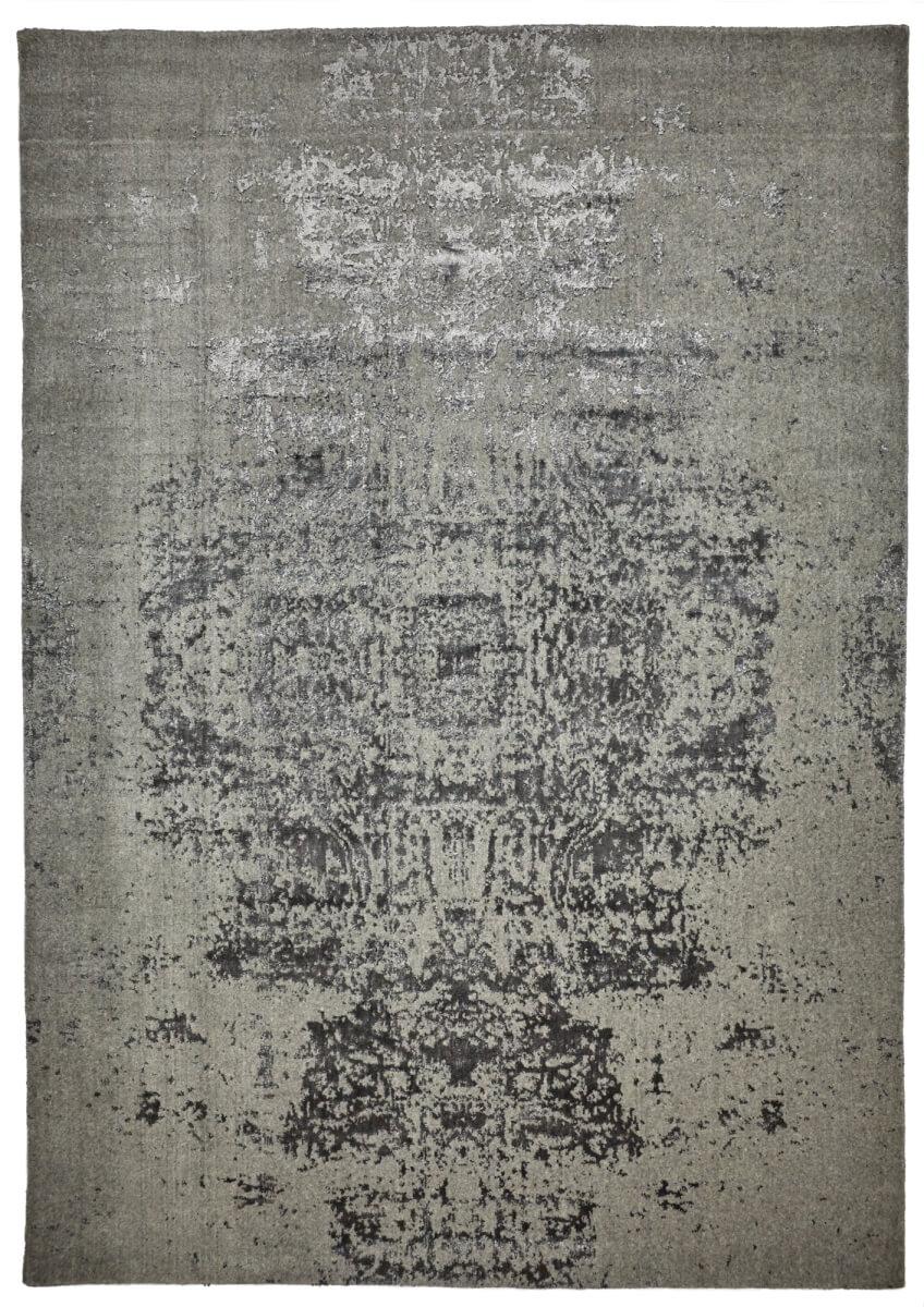 Silver Grey Modern Wool Rug