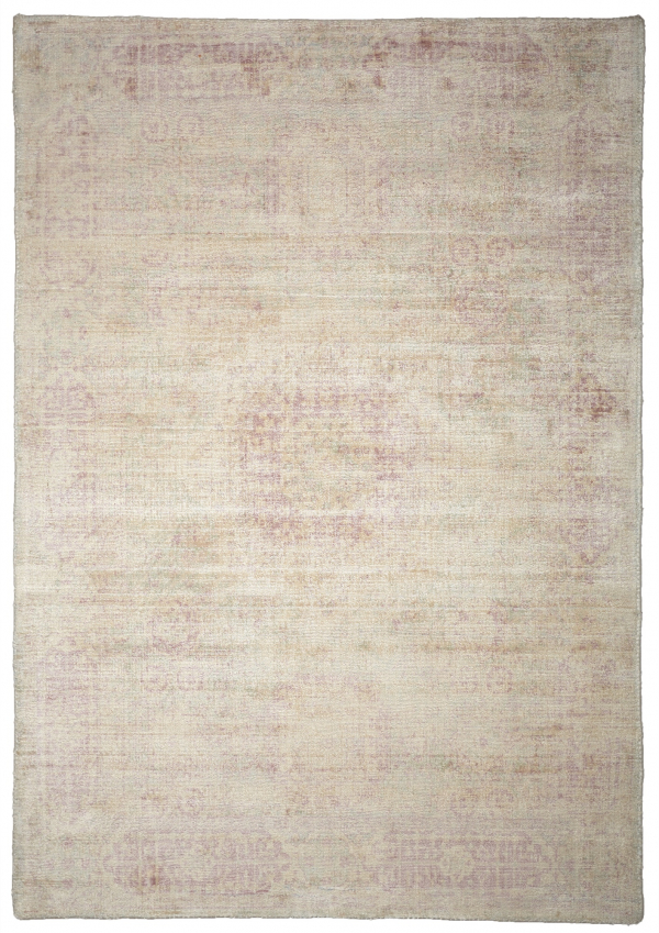 Rose (Ivory Pink) Modern Synthetic Rug
