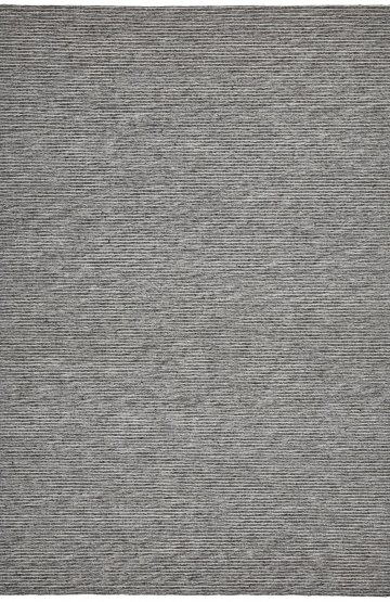 Dark Grey modern wool rug