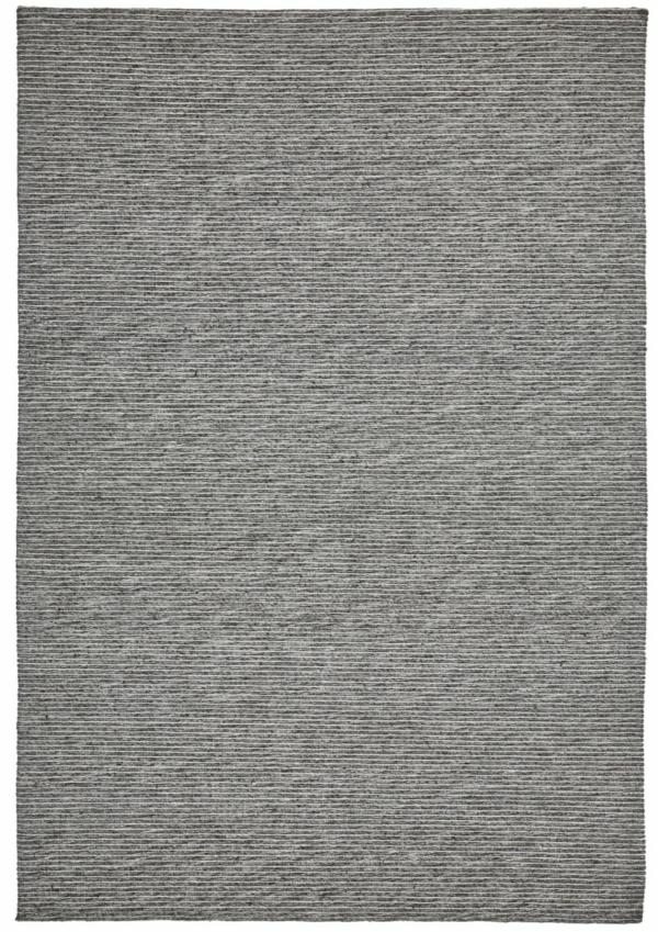 Dark Grey modern wool rug