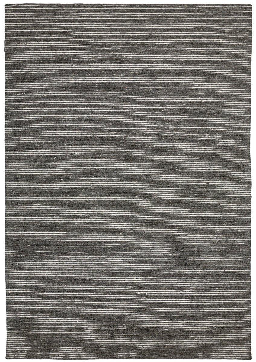 Black modern wool rug