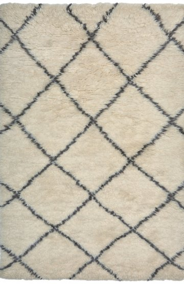 White modern wool rug