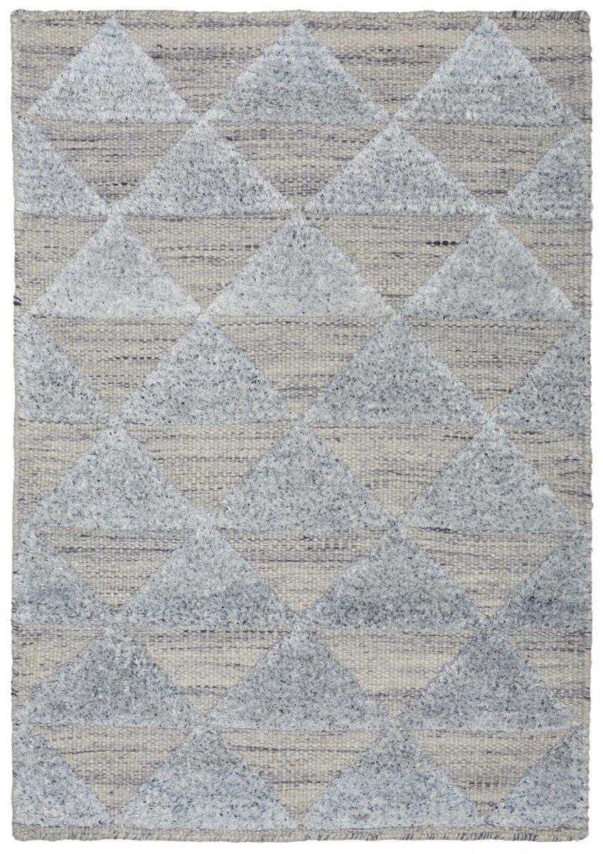 Greyish Blue modern wool rug