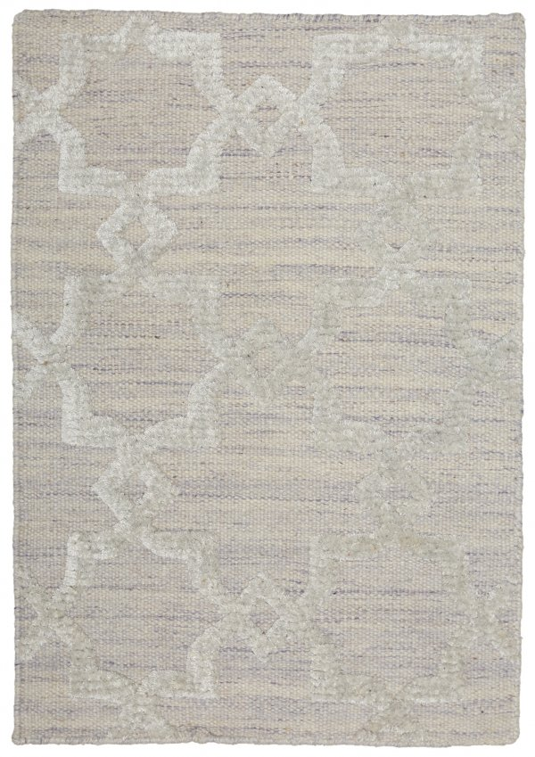 Pearl (white) modern wool rug