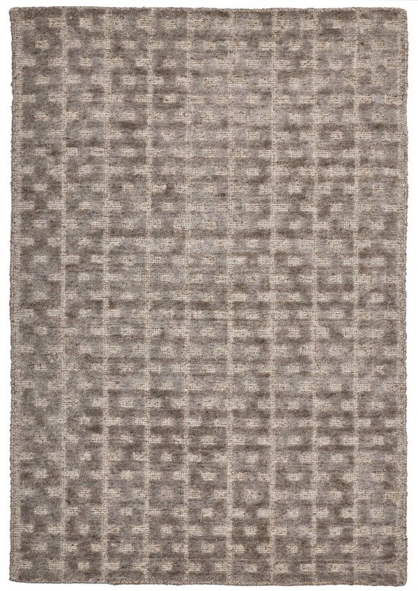 Fawn(Light Brown) modern wool rug